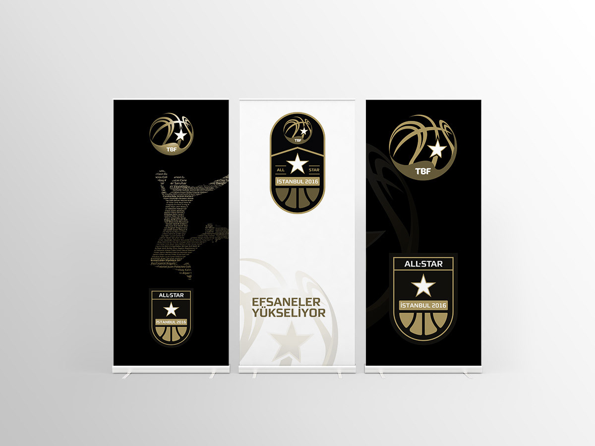 3e64c531a053 TBL All Star 2016 Branding kit uses a badge design along with the TBL  league logo by Designwerk.