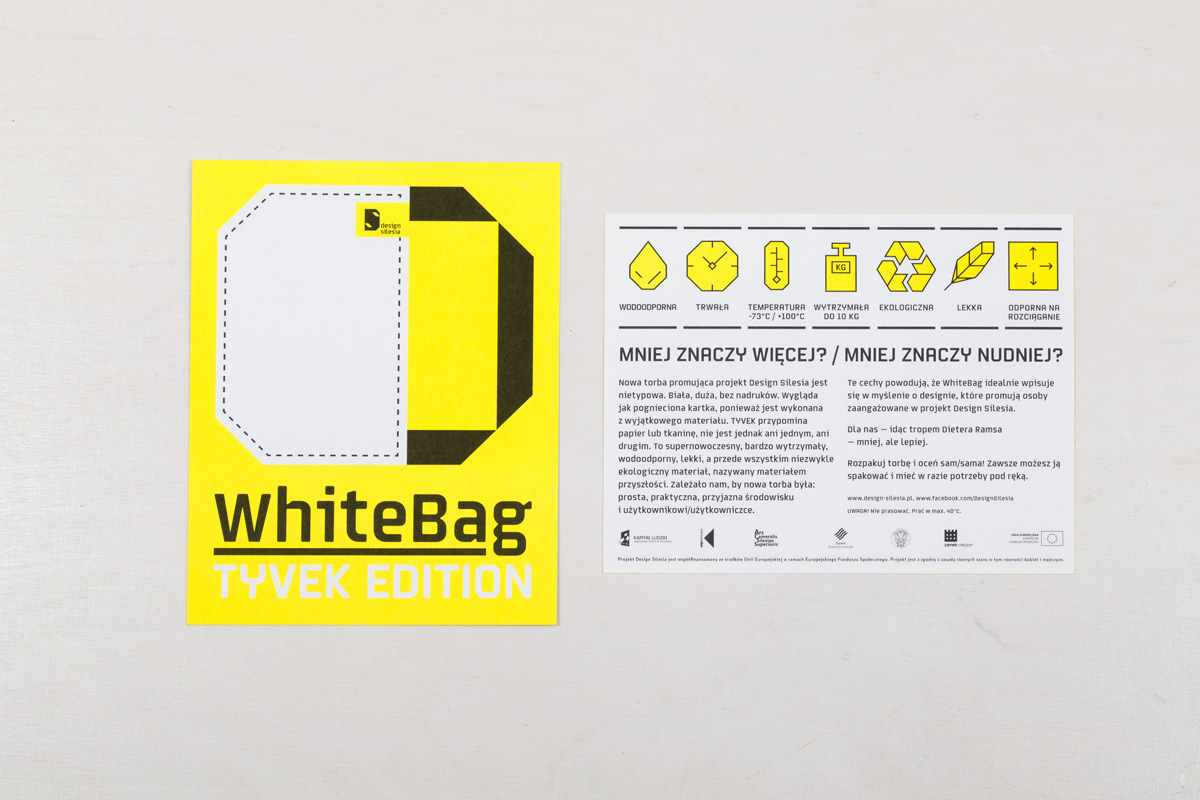 Flyer And Packaging Design For White Bag Tyvek Edition Promotional Gift Sielesia By Michał Latko