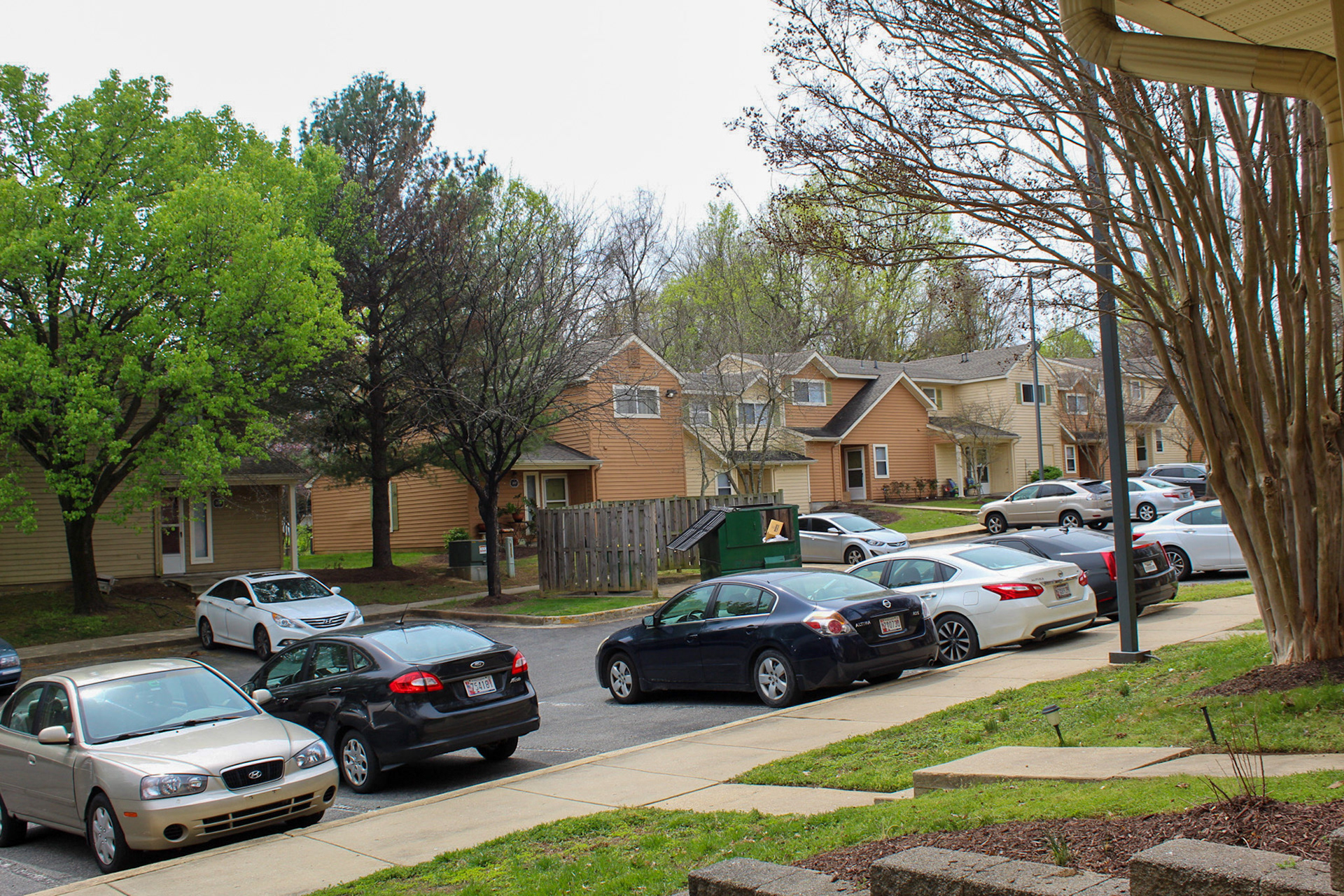 More Cars home than usual in my housing complex- April 6