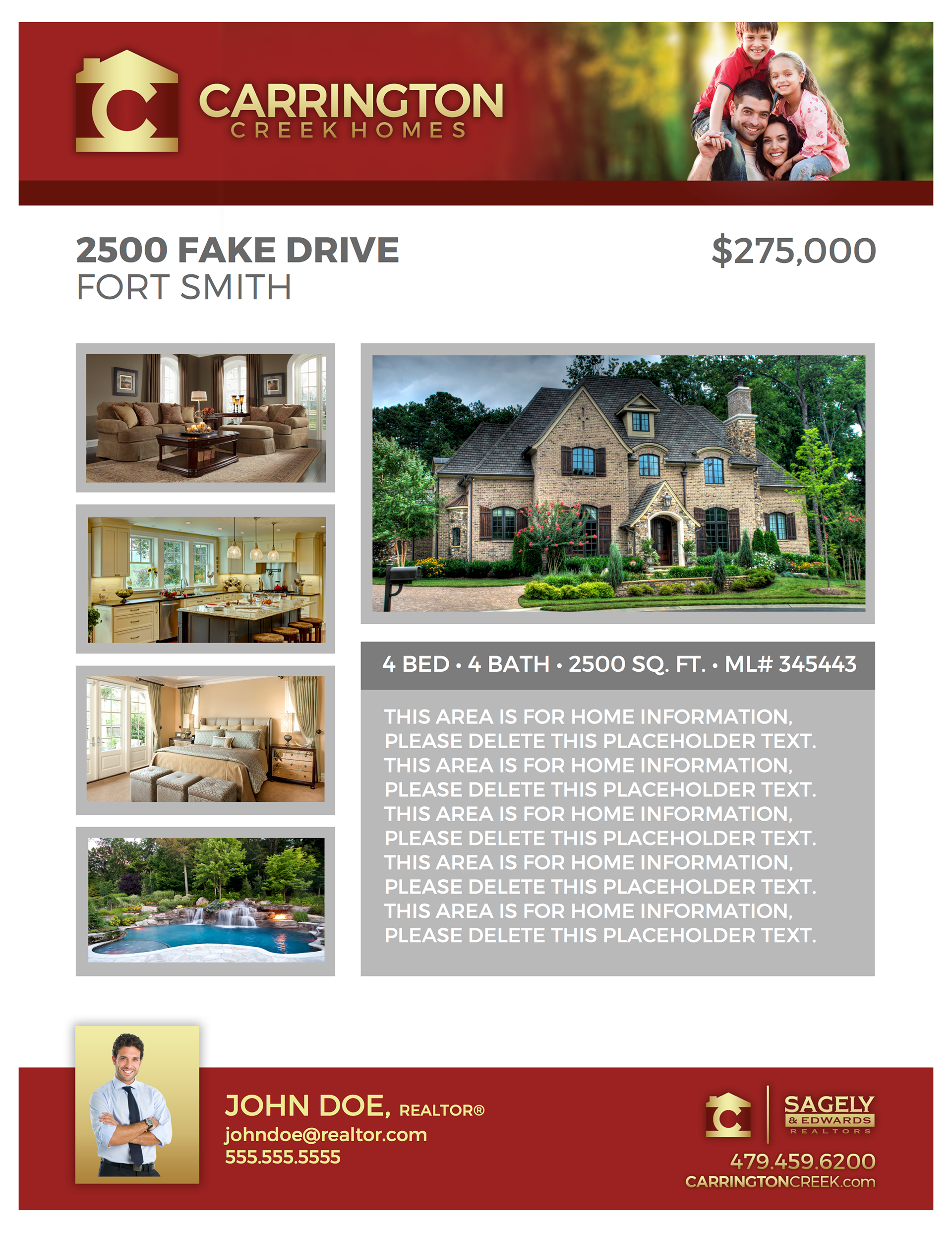 Chase Smallwood - Carrington Creek Homes, Home Flyer Design on interior design flyer, logo design flyer, web design flyer, fiesta flyer, architecture flyer, landscaping flyer, photography flyer, graphic design flyer,