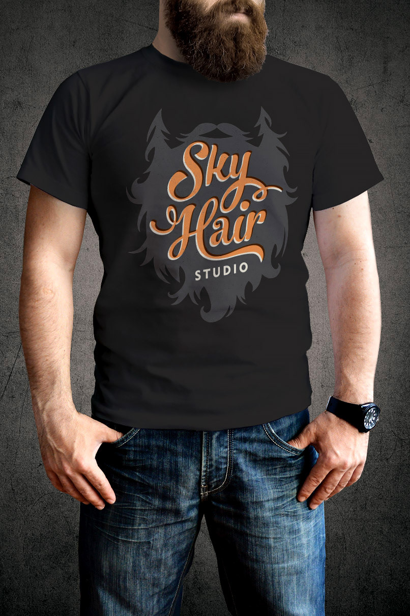 tactix creative custom logos and brand identity sky hair logos t