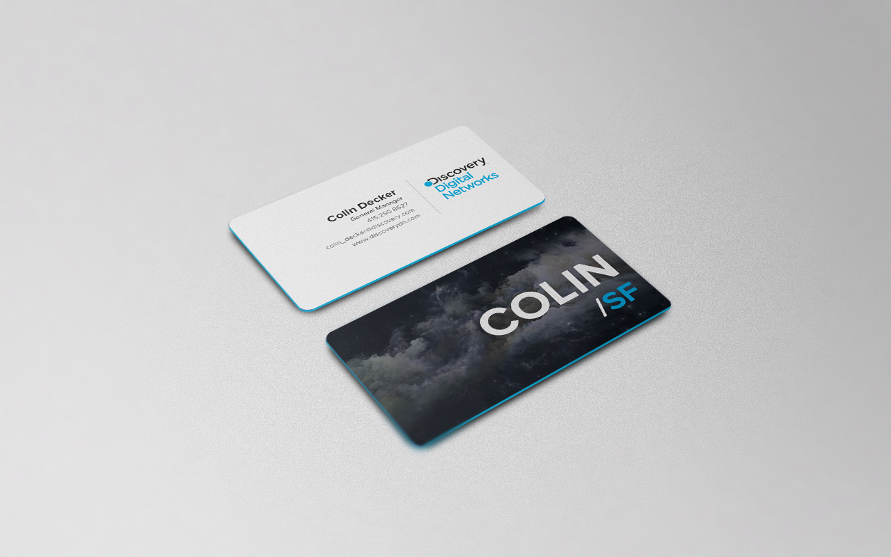 Oleksander Stecyk - Discovery Digital Networks Business Card Redesign