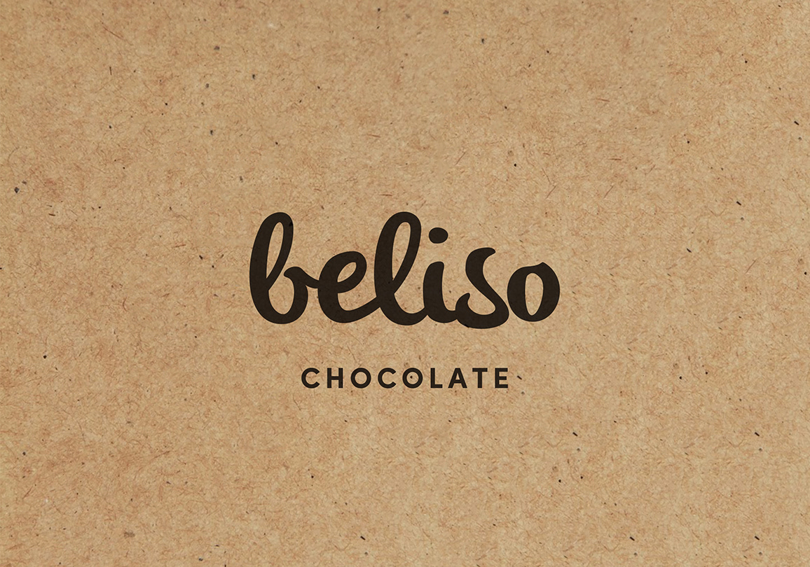 Claire taylor beliso chocolate featuring a wordmark that can be applied with a stamp on recycled board business cards and packaging for small made to order batches of reheart Choice Image