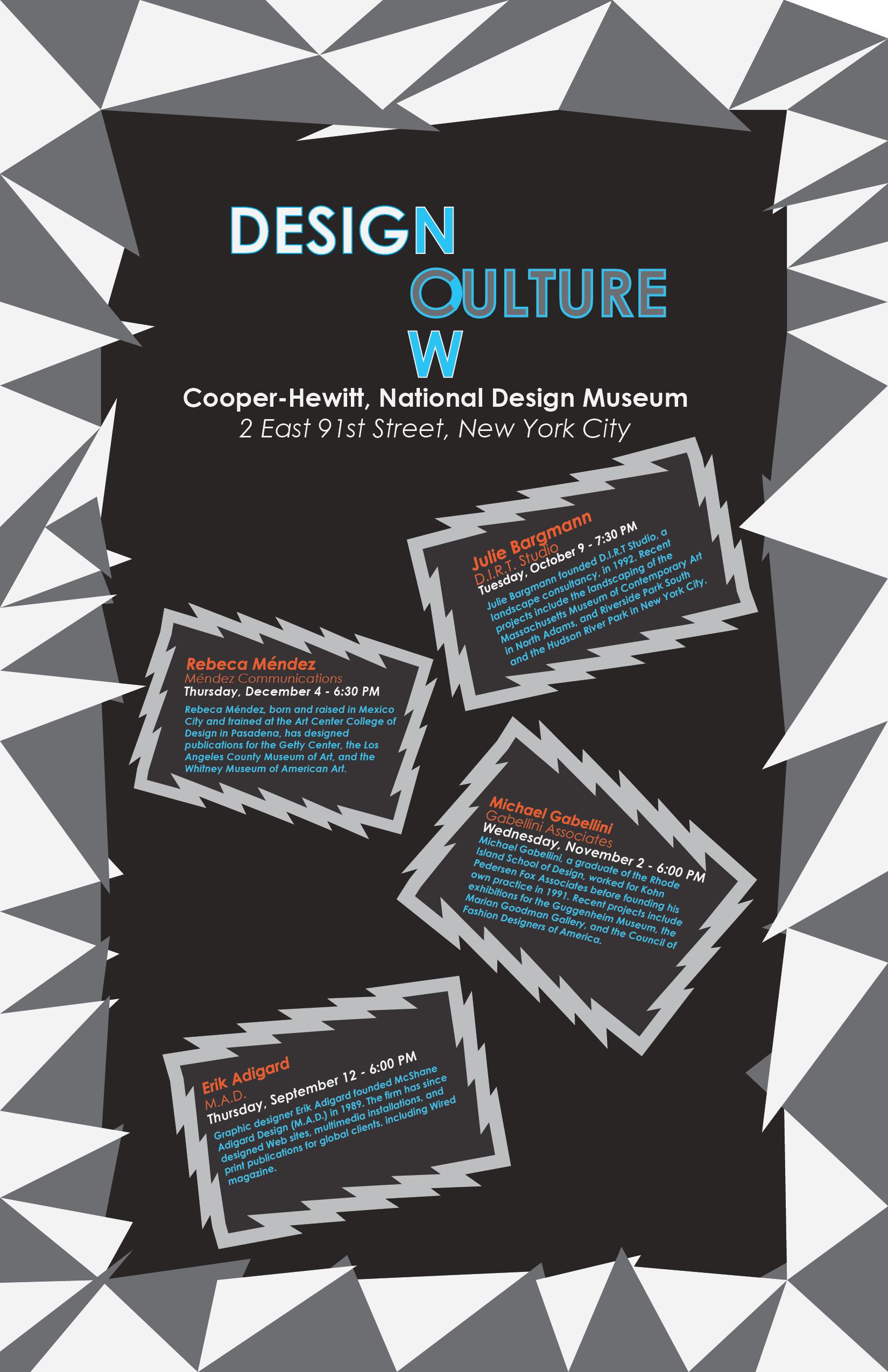Cole Hardin Design Page - Design Culture Now Poster