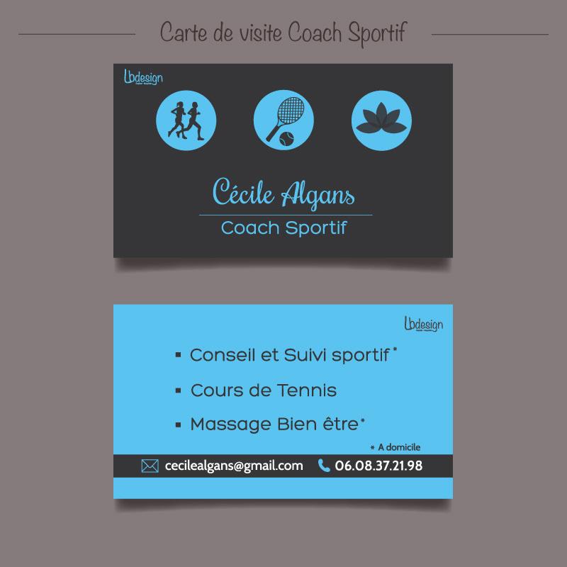 carte visite coach sportif Lb'design   Carte de visite Coach Sportif
