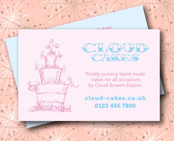 Kinetik graphics print and design bracknell business card for business card for cake baker reheart Images