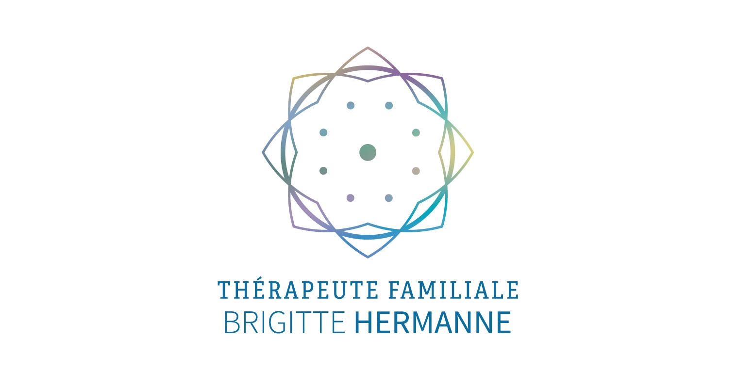 Creation De Logo Et Carte Visite Pour Brigitte Hermanne Therapeute Familiale