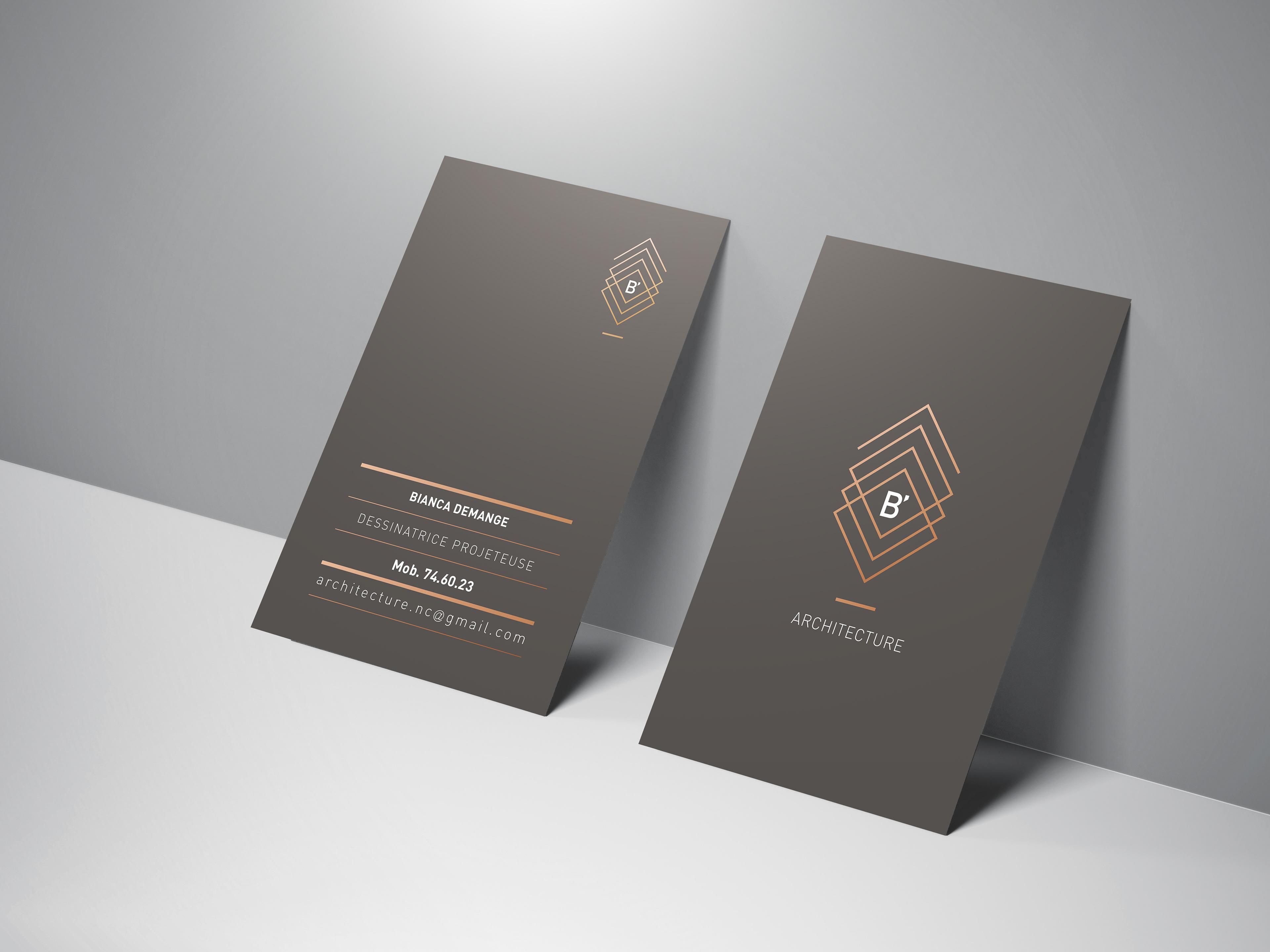 Cration Logo Carte De Visite Et Slides Prsentation Pour BArchitecture