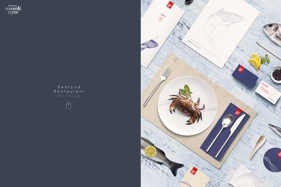 Webdesign resources development for One fish two fish restaurant