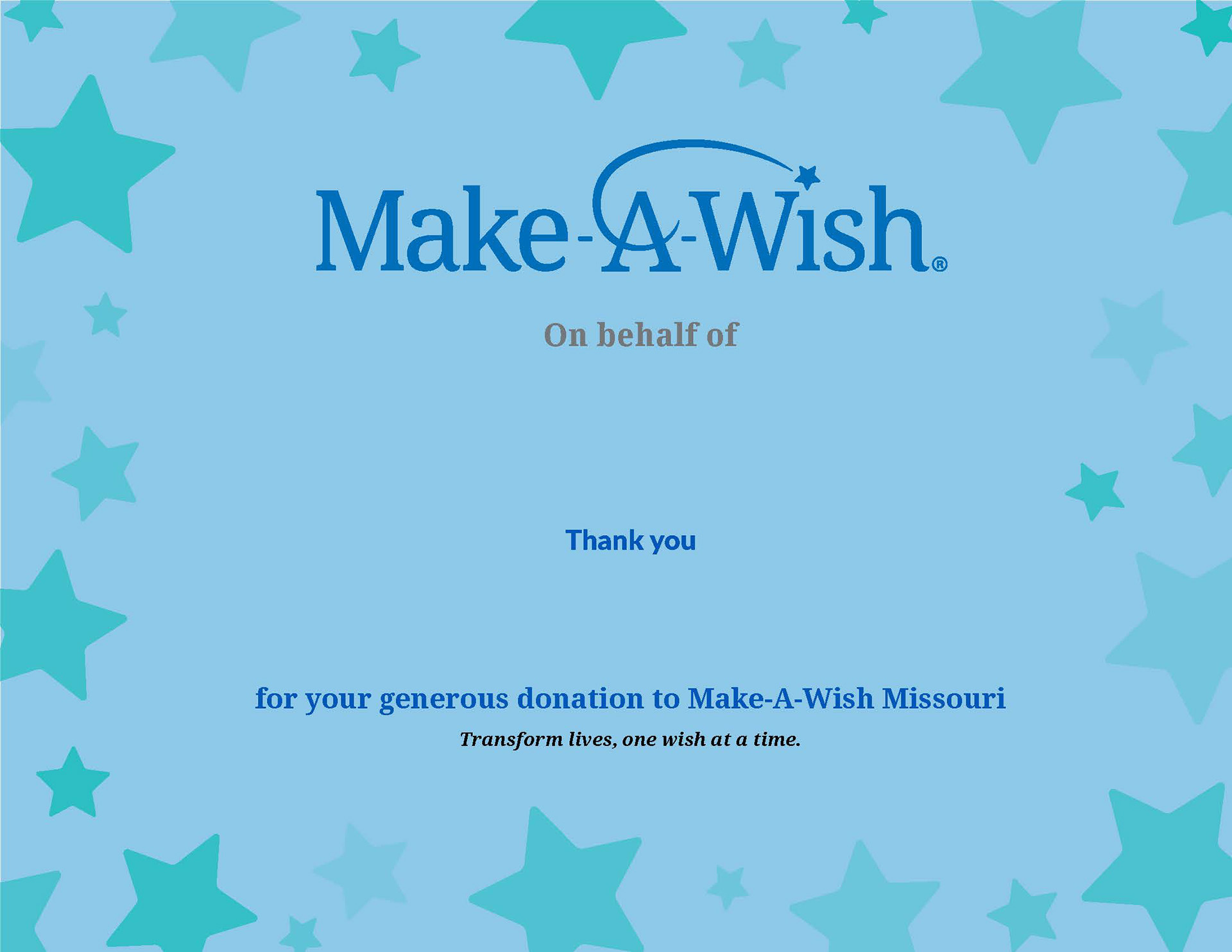 Jazmine Poblette Make A Wish Thank You Certificate Templates