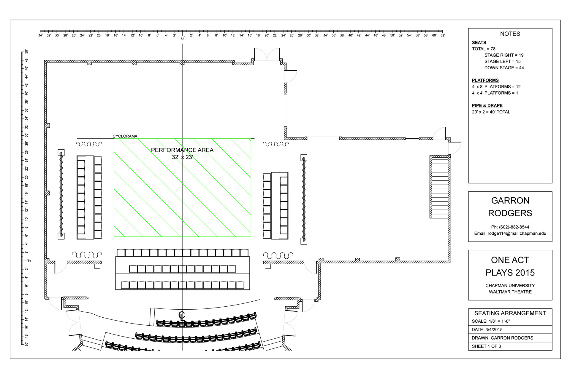 Garron Rodgers Autocad Drafting And Lighting Paperwork Theatre Diagram Light Plot For One Act Plays 2015