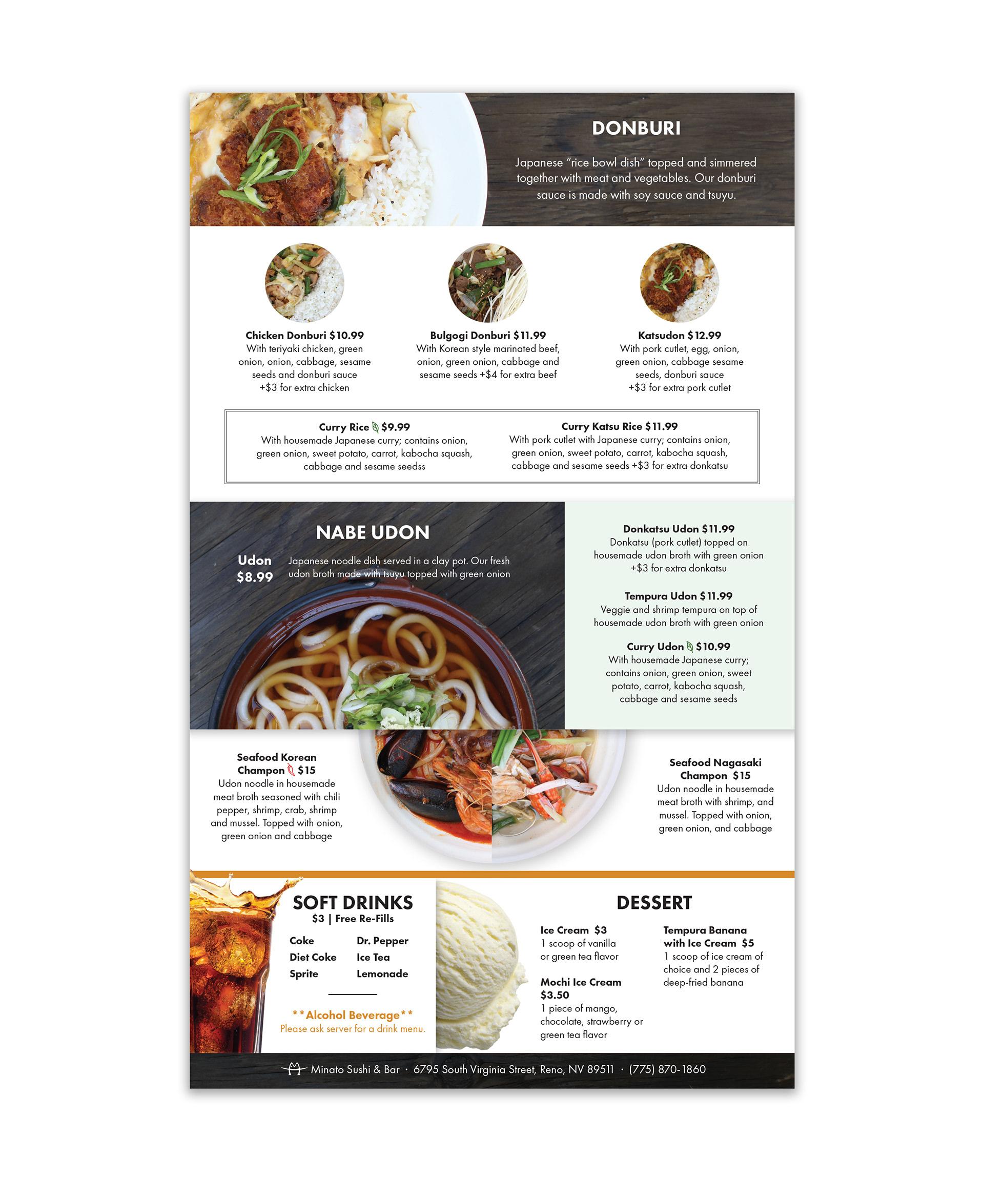 Euco Design Eunice Choi Minato A La Carte Menu Design Food Photography