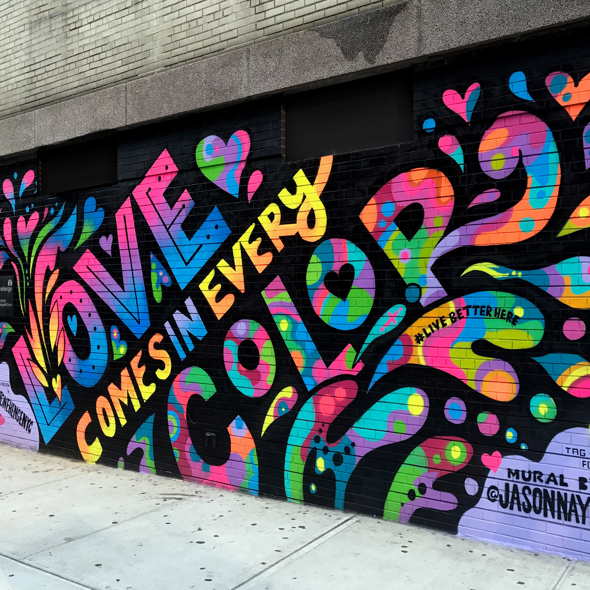Psychedelic Wall Murals Jason Naylor Love In Every Color Mural