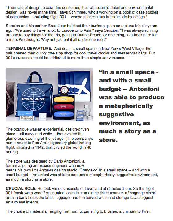 case study on flight 001 Flight 001 is the one-stop shop for the modern-day traveler luggage, bags,  adapters, in-flight comfort, containers, spacepak, go clean, seatpak, and more.