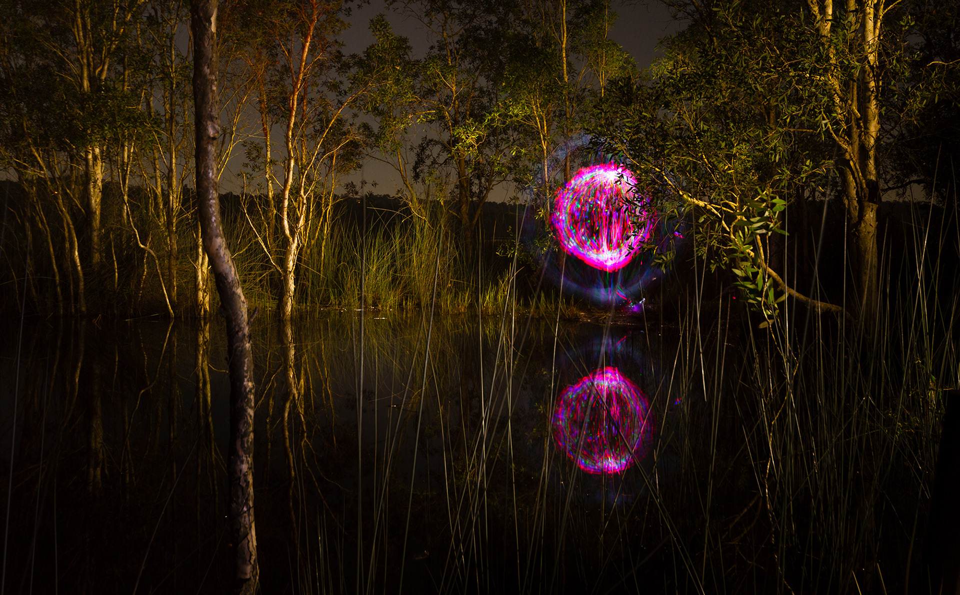 Andrew willis light painting landscape some people sleep when they go camping mozeypictures Image collections
