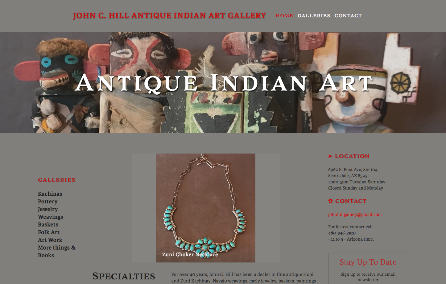 David Ezziddine - John C  Hill Antique Indian Art Gallery