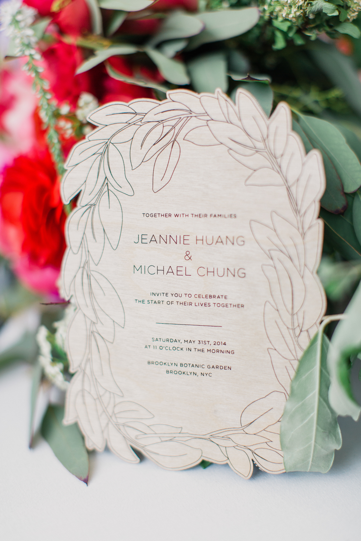 Jeannie Huang - Leafy Botanical Laser Cut Wedding Invitations