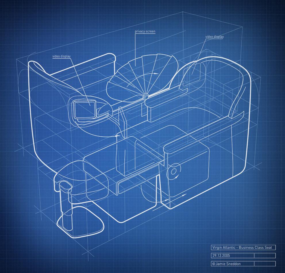 Jamie sneddon creative consultancy blueprint graphics maxim virgin atlantic business class seat malvernweather Gallery