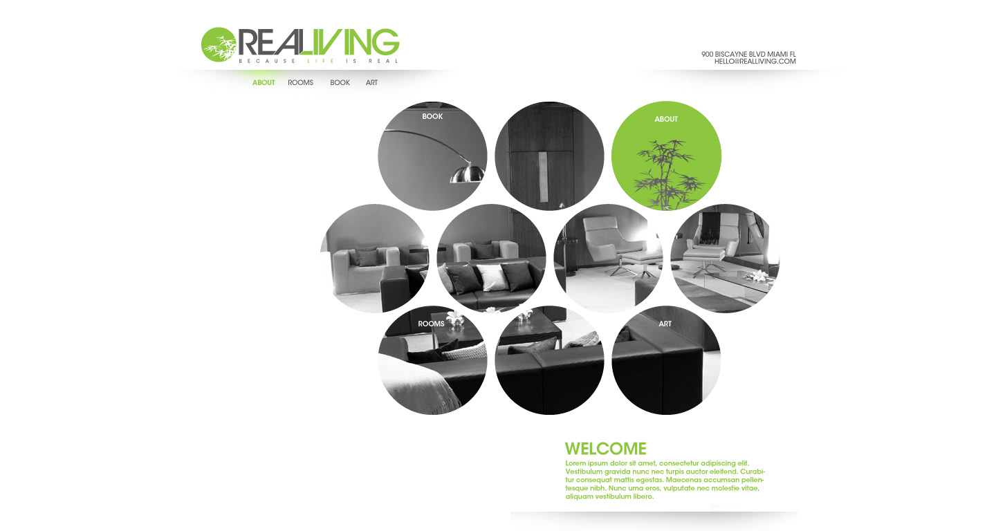 Ryan lawrence real living hotel brand web design for Design hotel sauerland am kurhaus 6 8