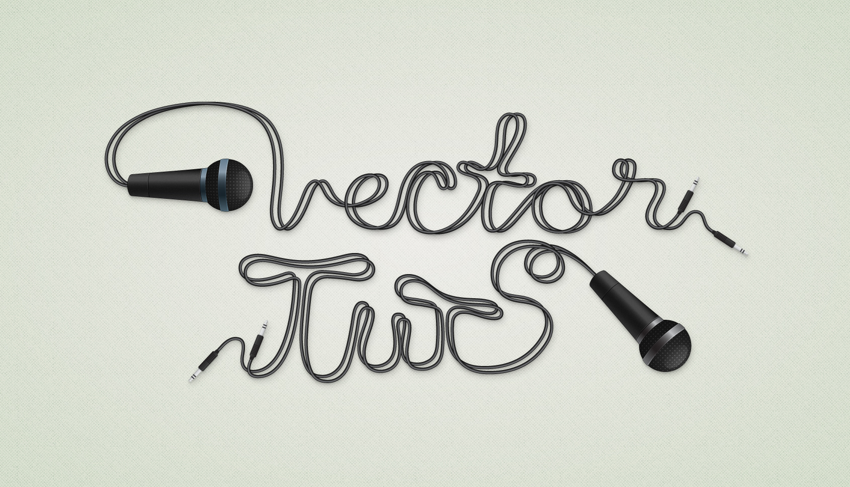 Andrei Marius - Cable Text Effect with Microphone