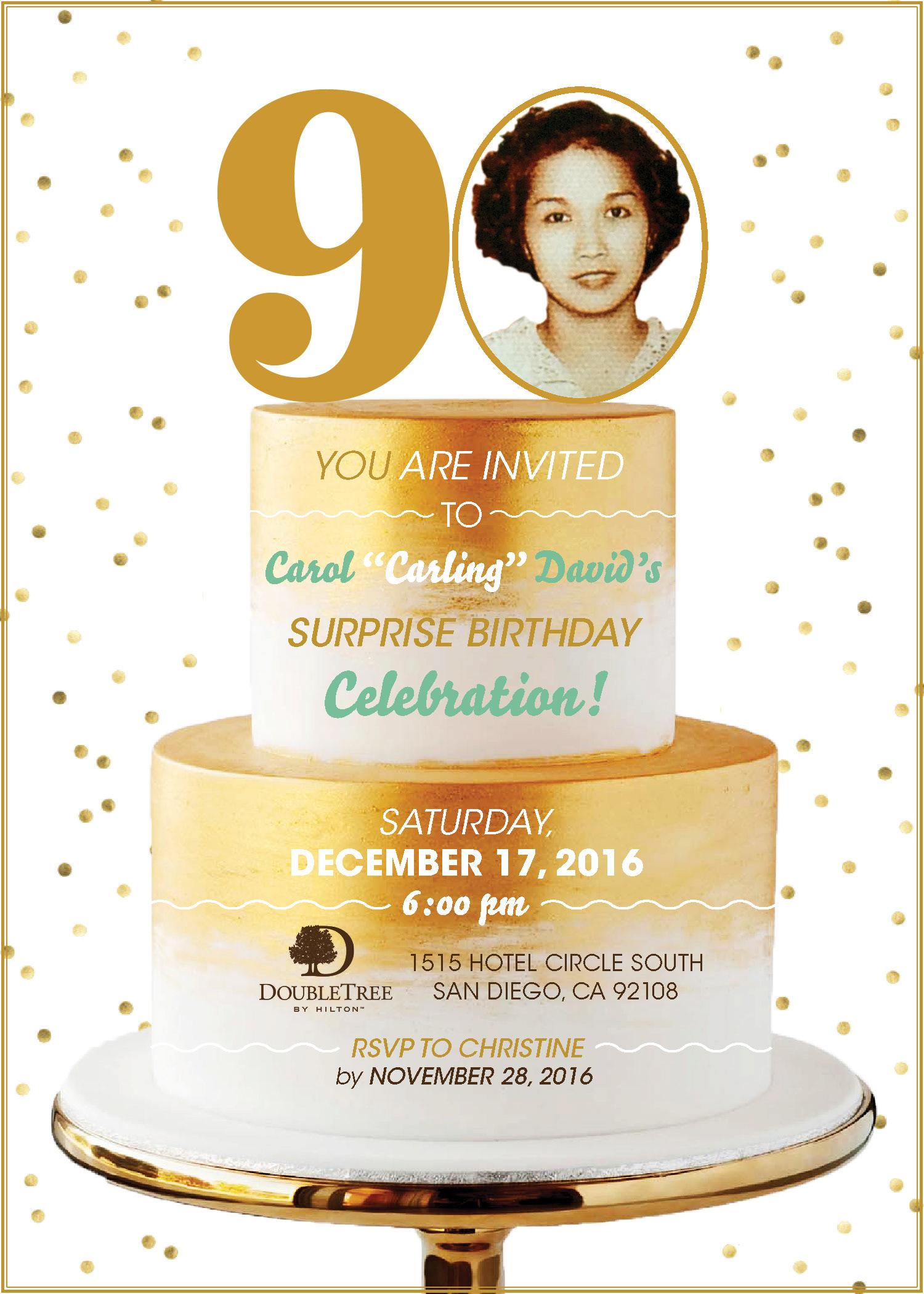 93 Birthday Invitations 90 Year Old Woman