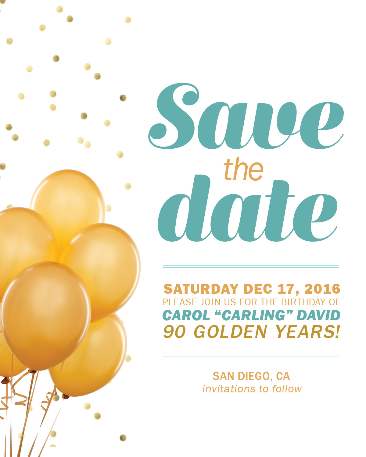 90 Years Young 90th Birthday Invitation