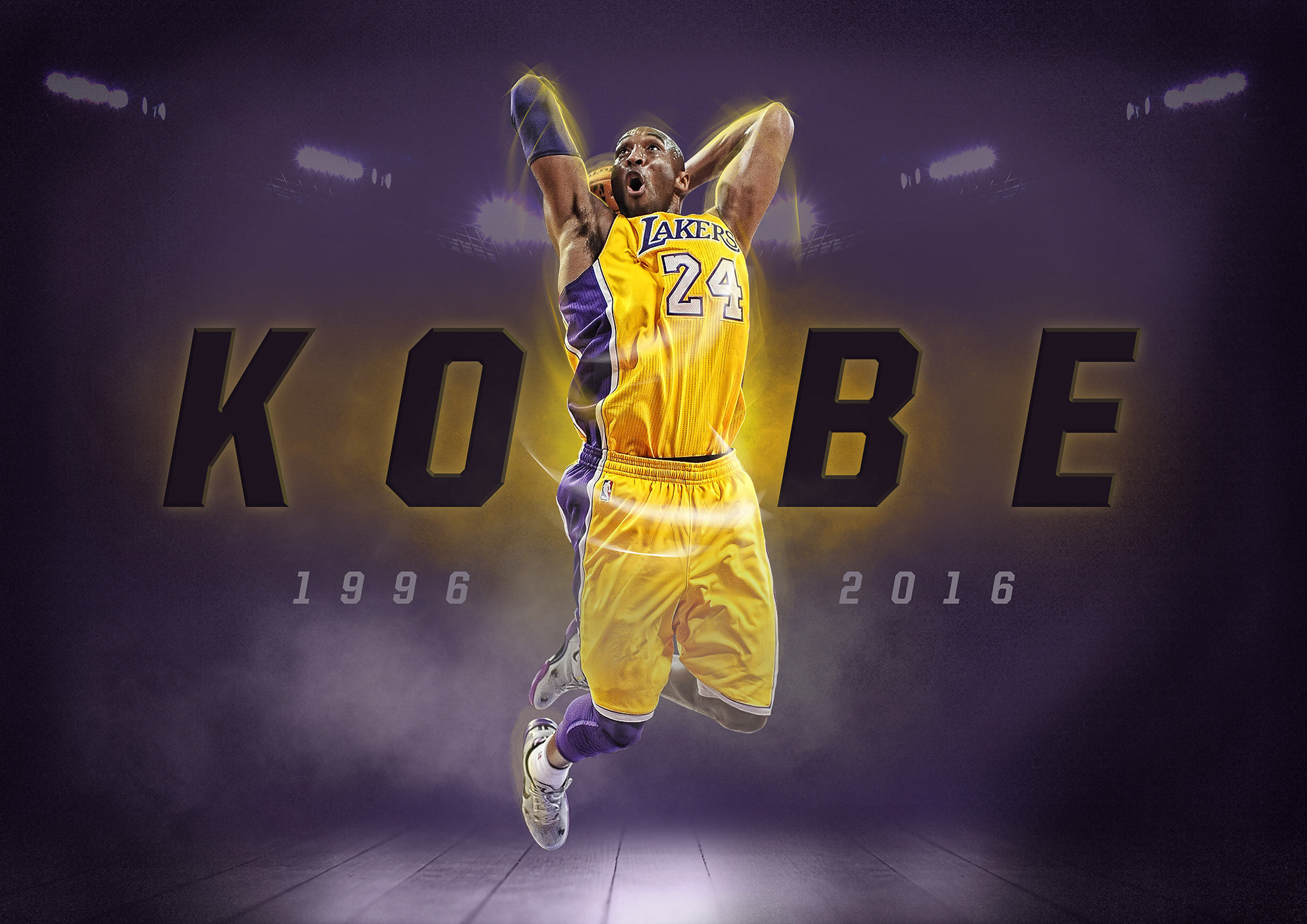 Poster design on ipad - Personal Project Kobe Bryant Poster Design Using Ipad Pro And Apple Pencil