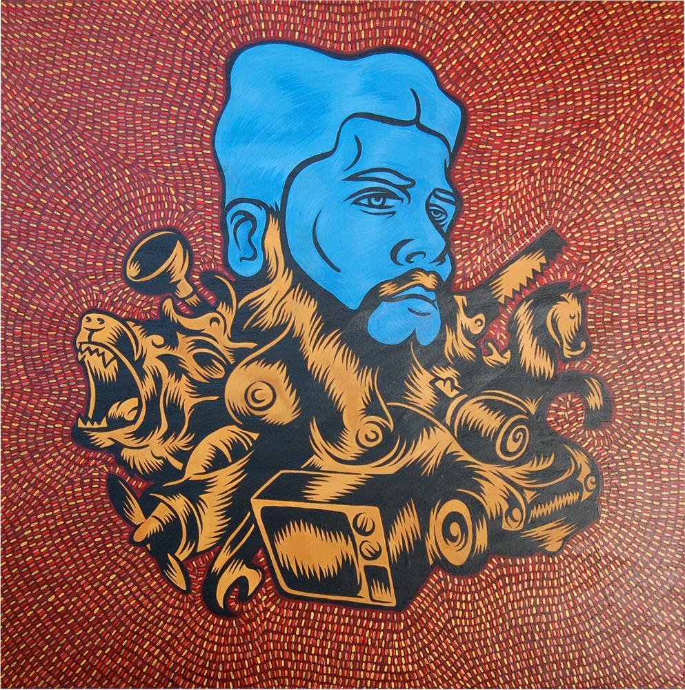 Devin Clark - Beards - Art Show