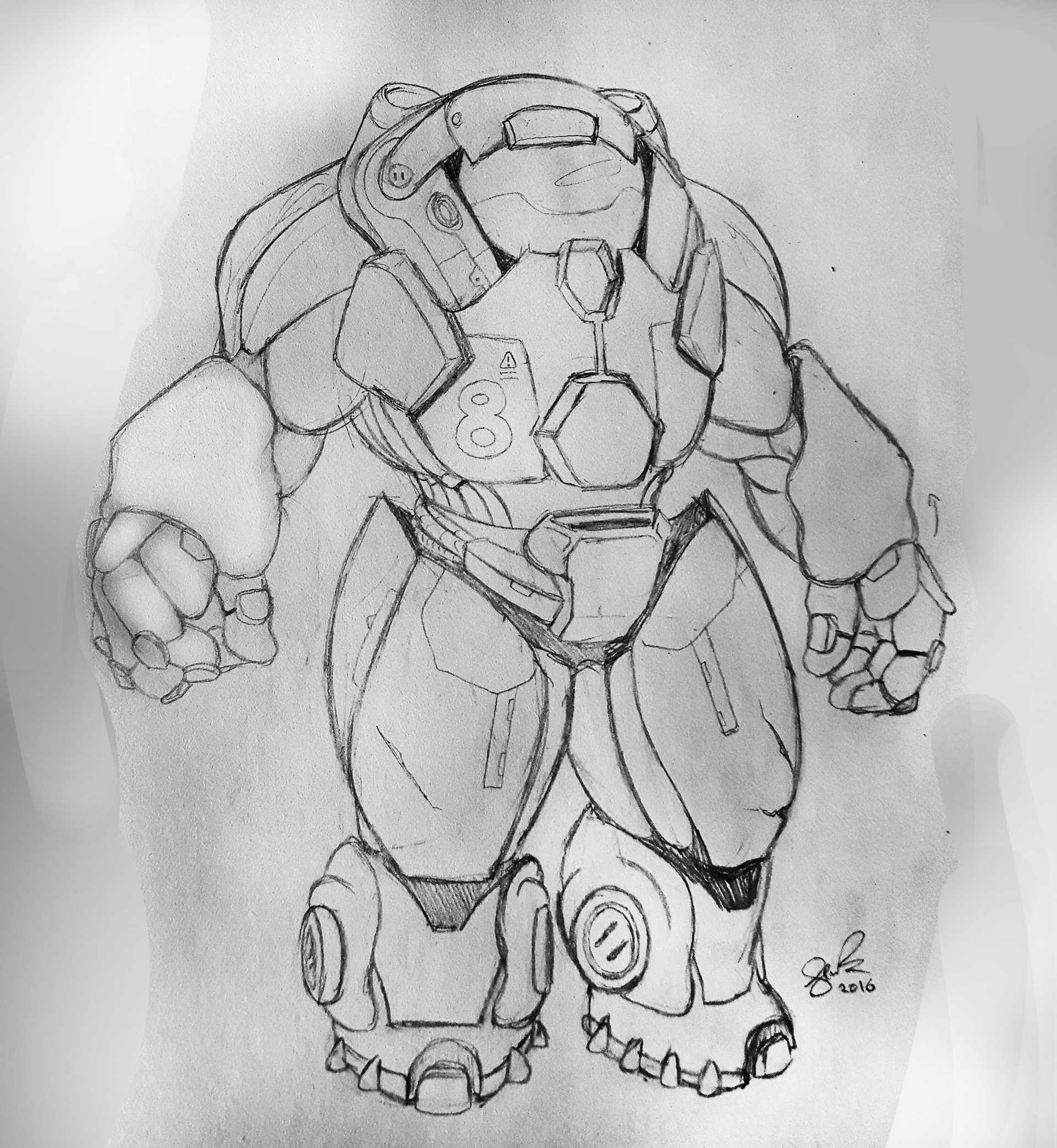 He started off as a pencil sketch inspired by baymax from disneys big hero 6 and blizzards heroes of the storm