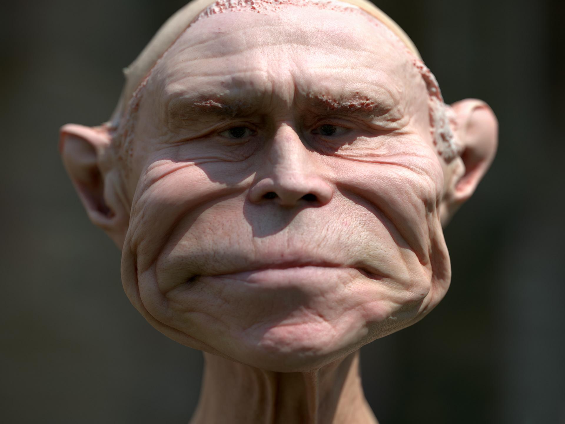 deformed face man - HD1280×1024