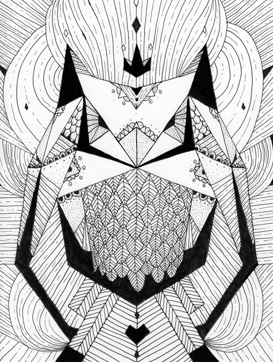 Cédric Delahaye Illustrateur Blackn White Owl