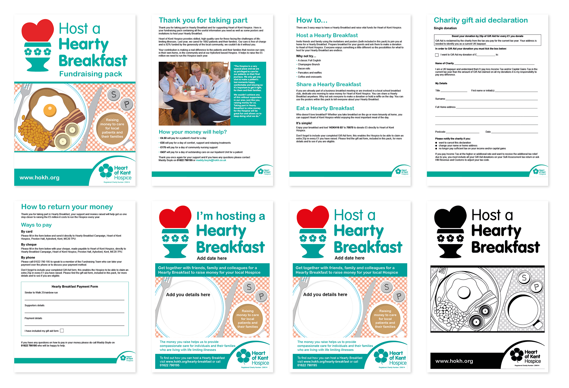 Neil cooper host a hearty breakfast heart of kent hospice the pack consisted of an introduction to the cause and guidance on how to host a hearty breakfast gift aid declaration and how to return money raised negle Image collections