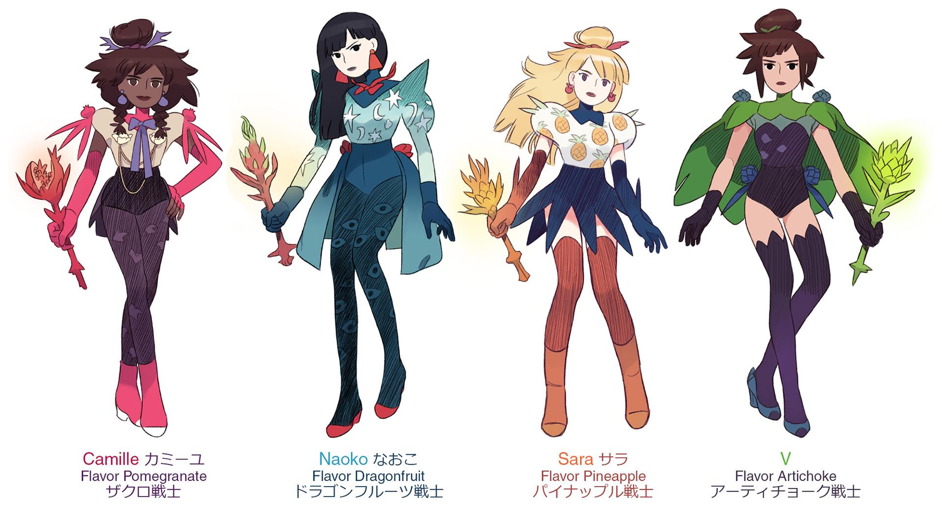loic locatelli kournwsky flavor girls characters