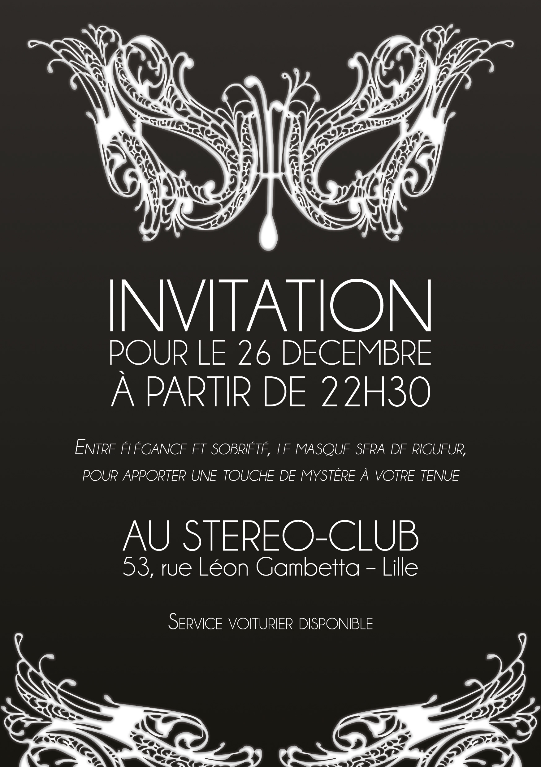 Romain Barbaglia Invitation Masque