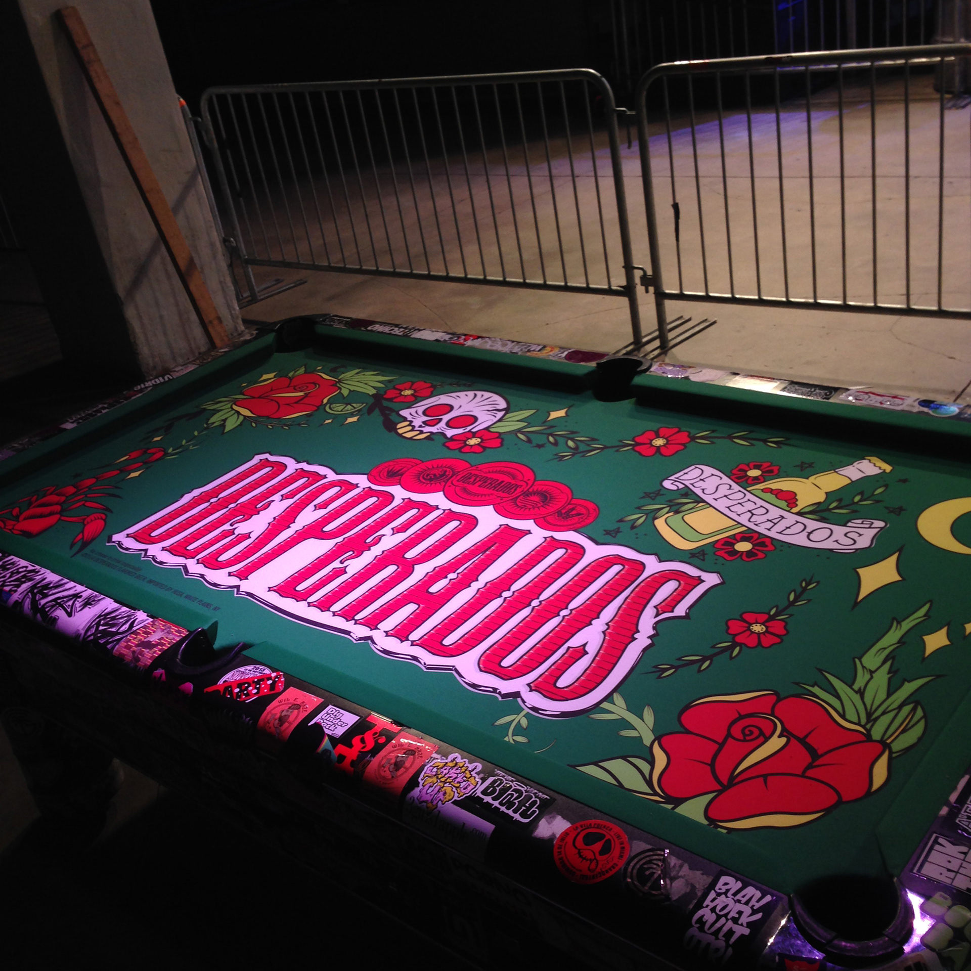 Custom Design Pools inground swimming pools far hills nj inground swimming pool awarded for design Custom Designed Pool Table Felt With American Traditional Tattoo Style Art Using The Brands Attributes The Table Was Installed At Grand Central In
