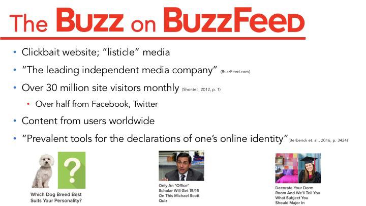 Sarah M Quinn - Presentation- BuzzFeed Capstone Project