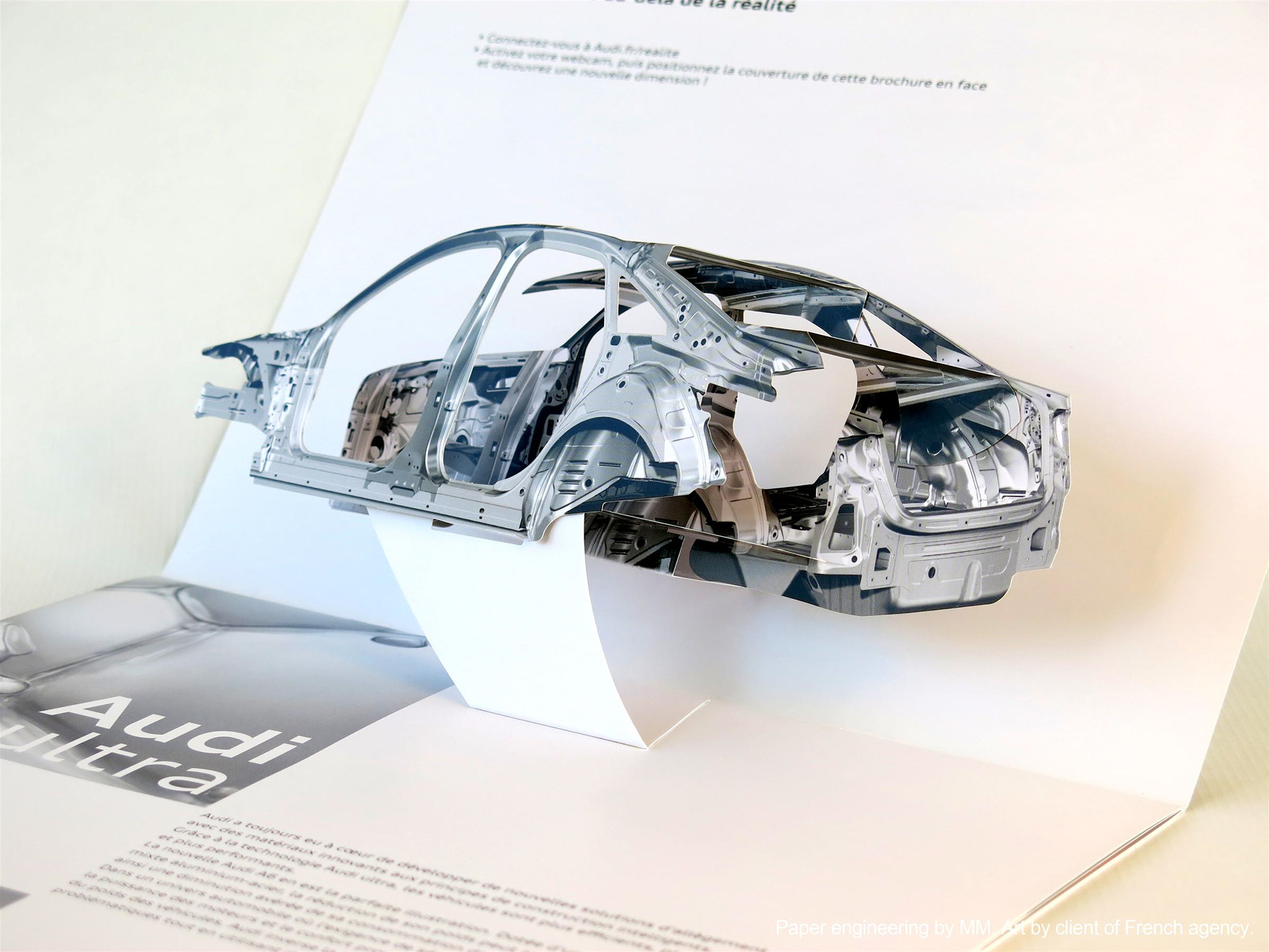 Mike Malkovas paper engineering. - Car frame pop-up.