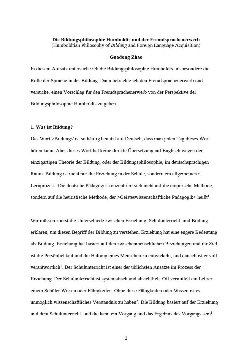 Guodong Zhao - Academic