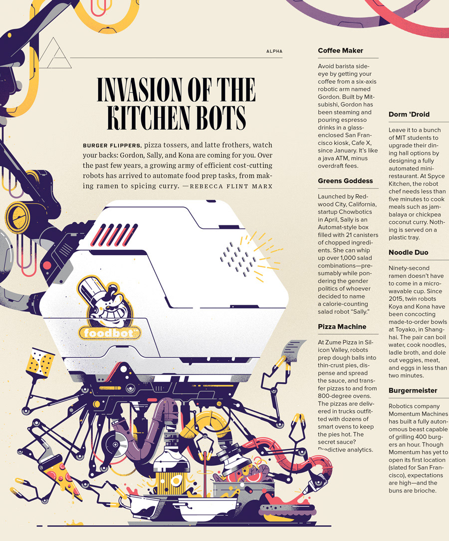 Gabriel Silveira - Illustrator - Wired Magazine - Invasion of the ...