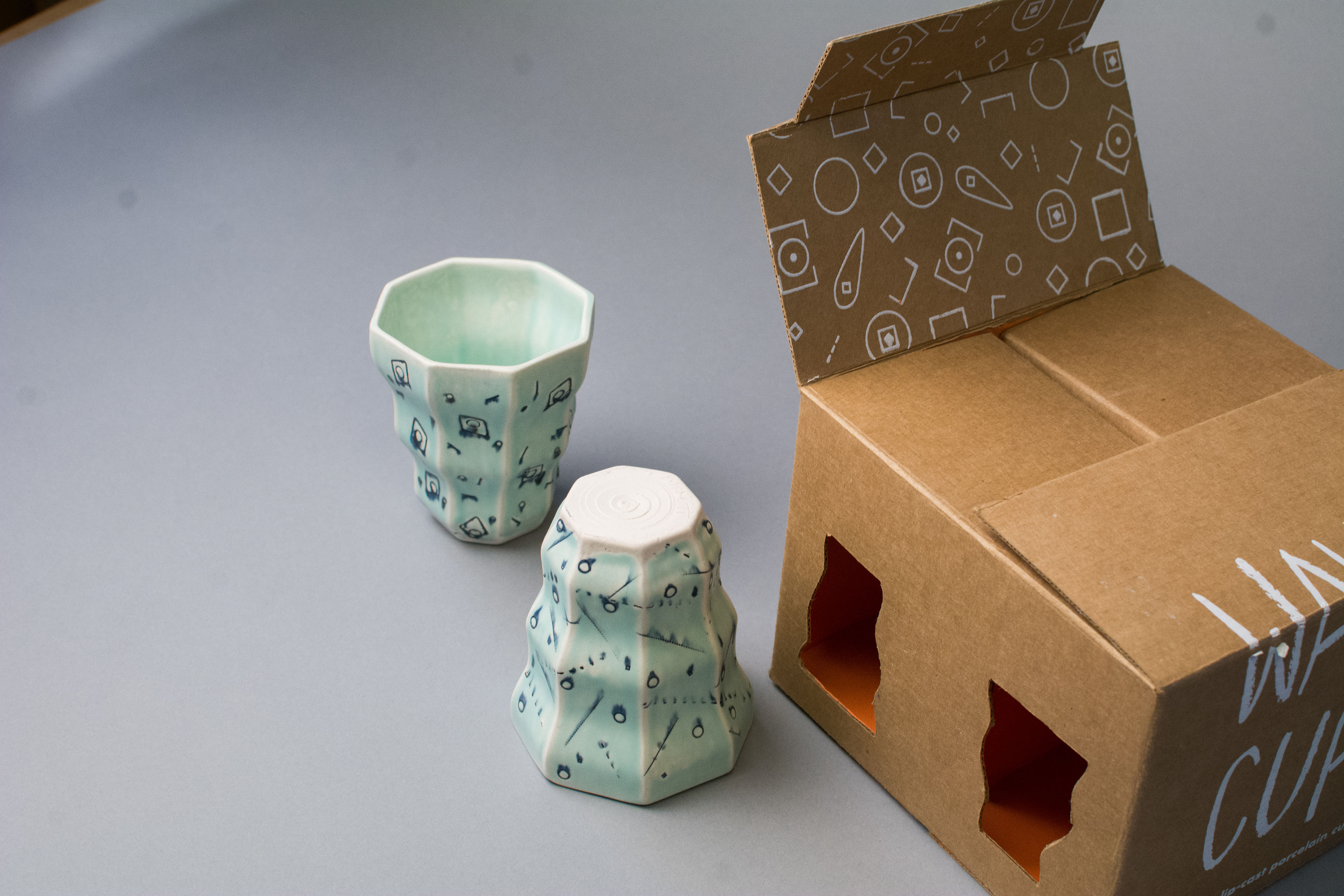 +The Abstract Geometric Designs On The Wave Cups Were Pieced