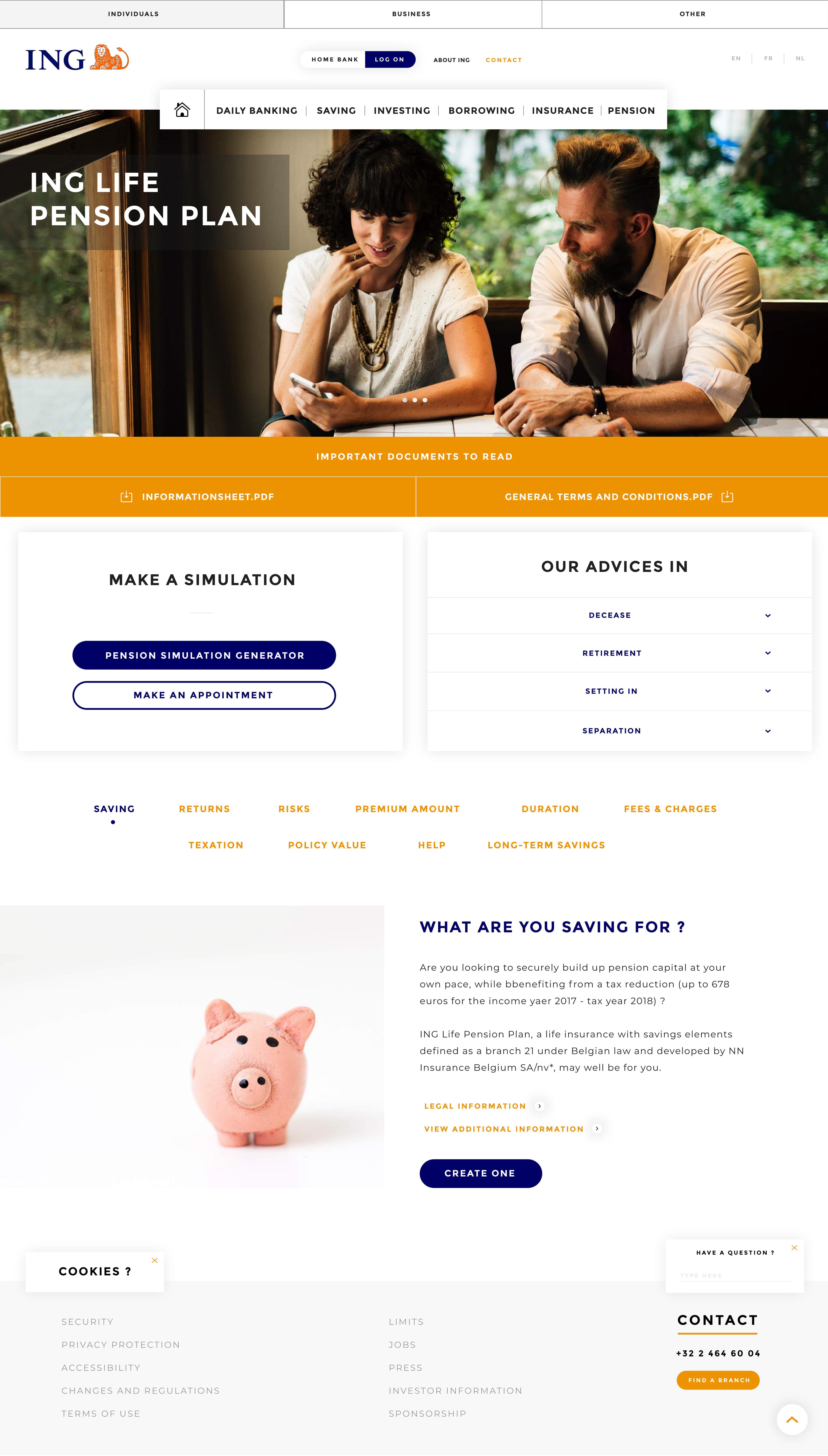 Re Designed Ing Website