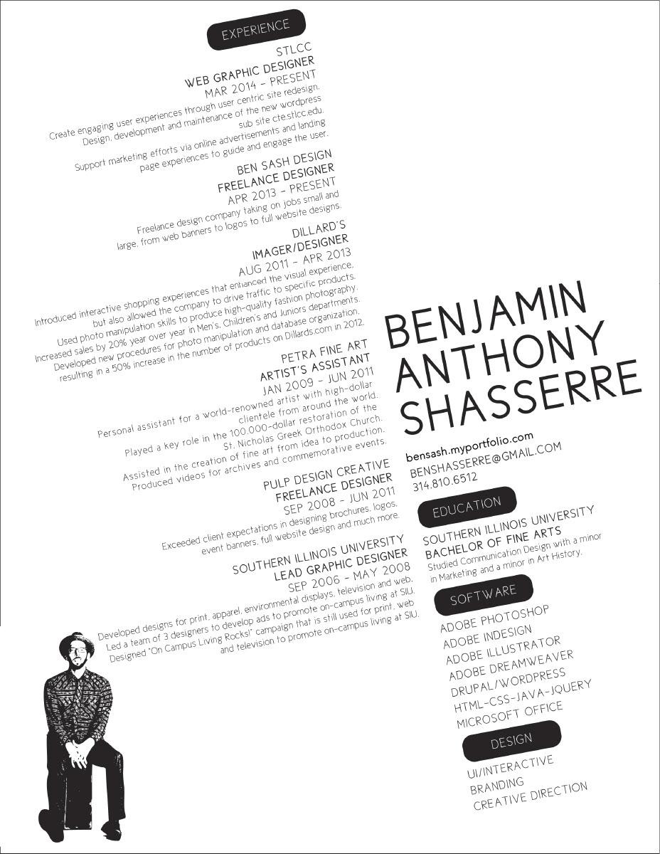 Ben Shasserre - Web Designer - CV