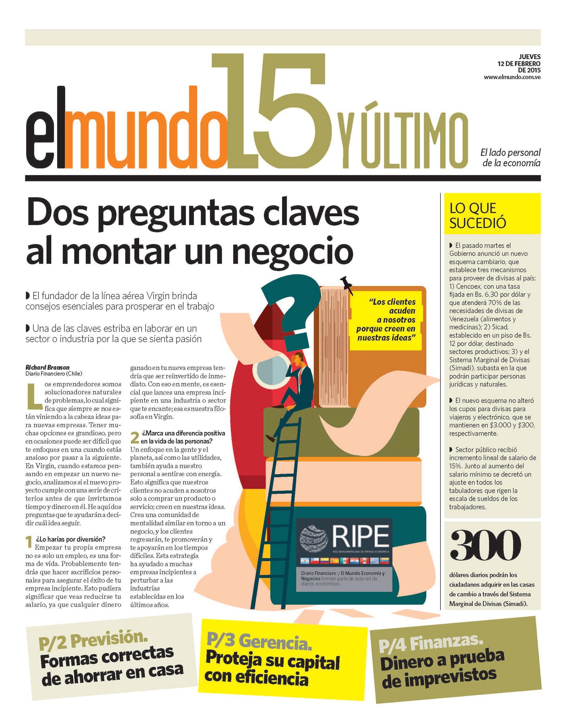 Andreina Padrón Newspaper Layout
