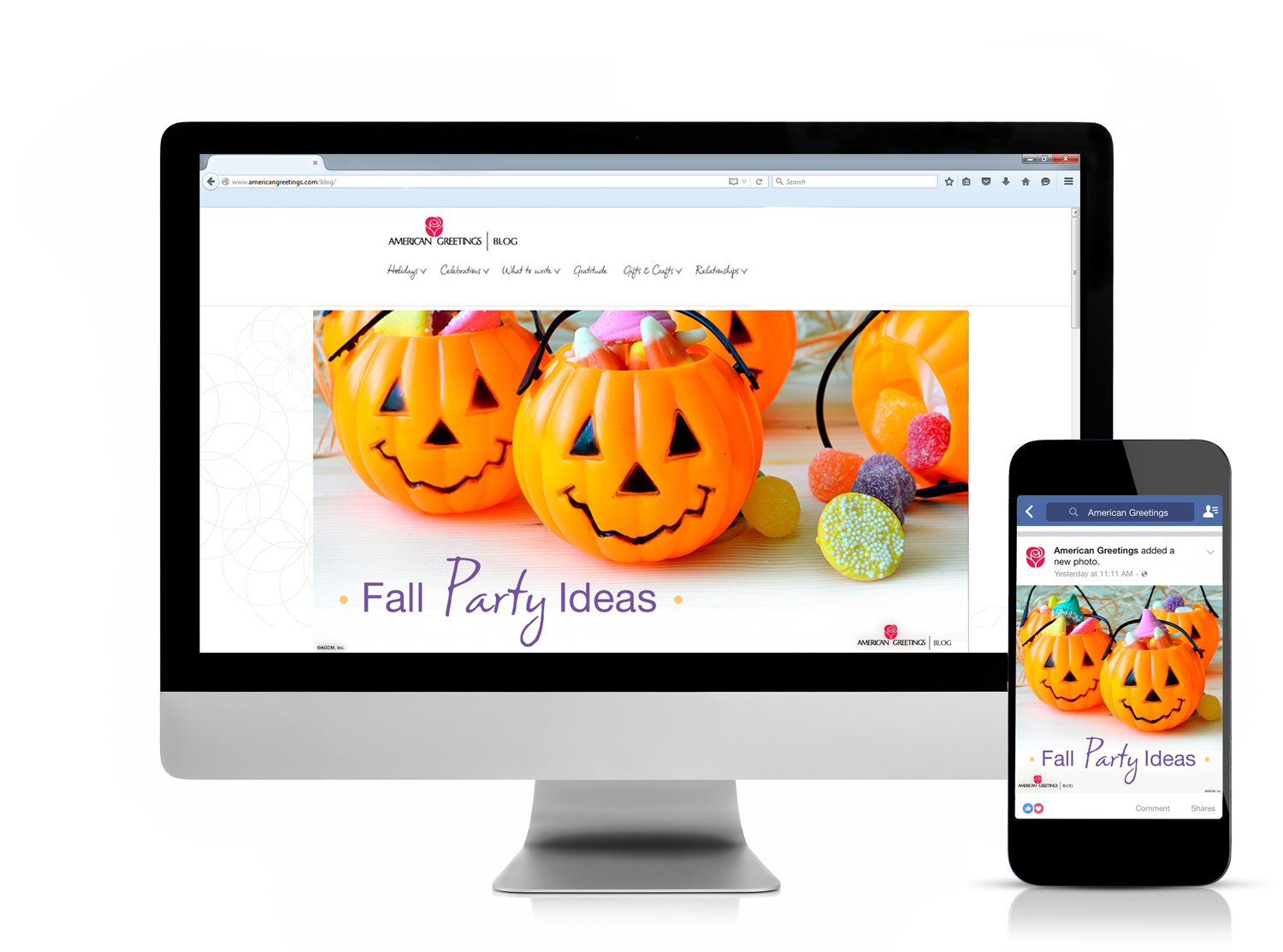 Olivia vitou american greetings blog halloween and thanksgiving holiday campaign m4hsunfo