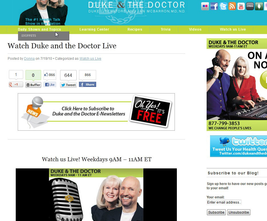 Michelle Nolke Designs - Duke & The Doctor Web & Email Campaigns