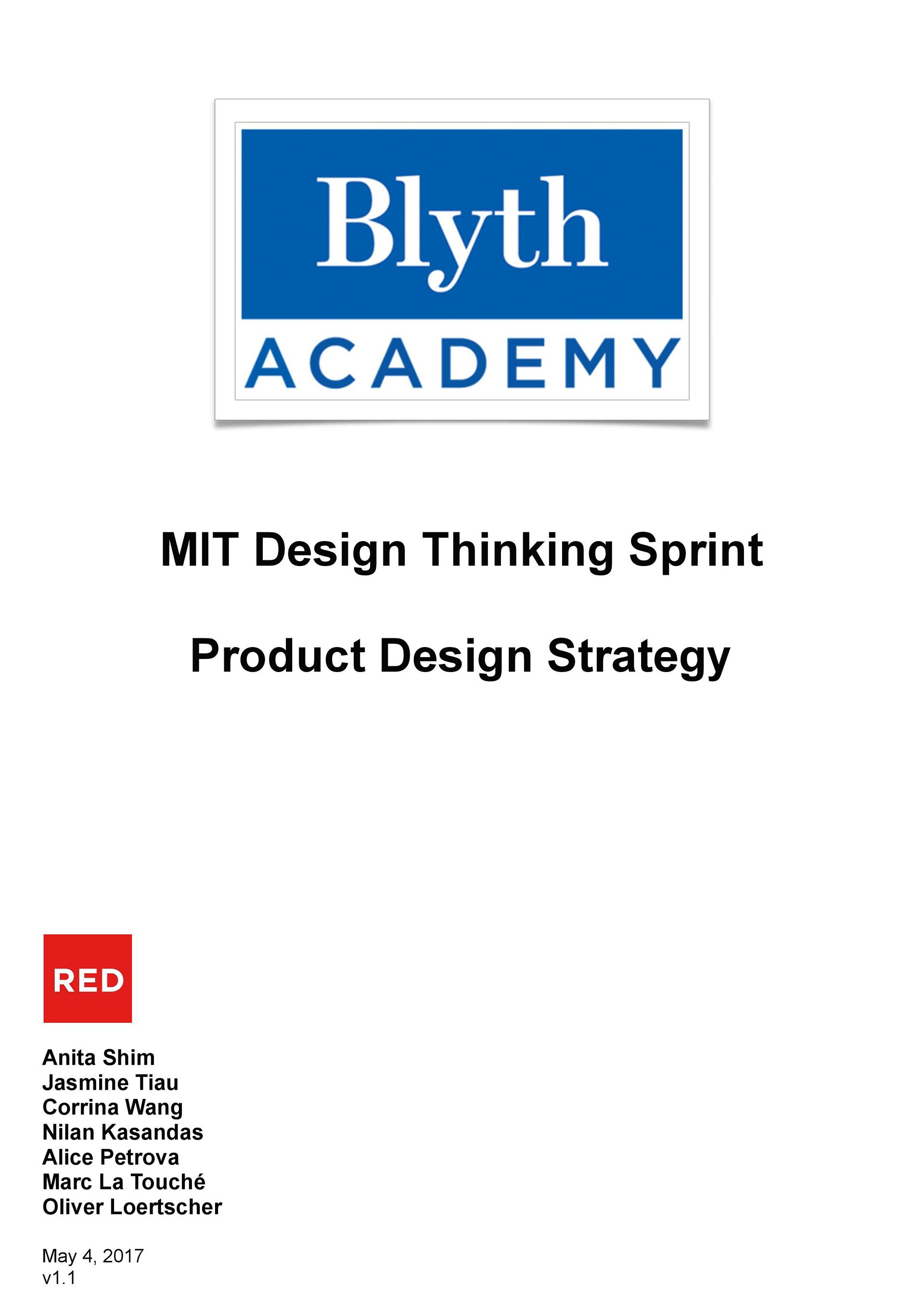 Through A 5 Hour Design Thinking Sprint For The Ideation Of Blyth Academys New Mobile App I Created Following Client Facing Document That Exhibits