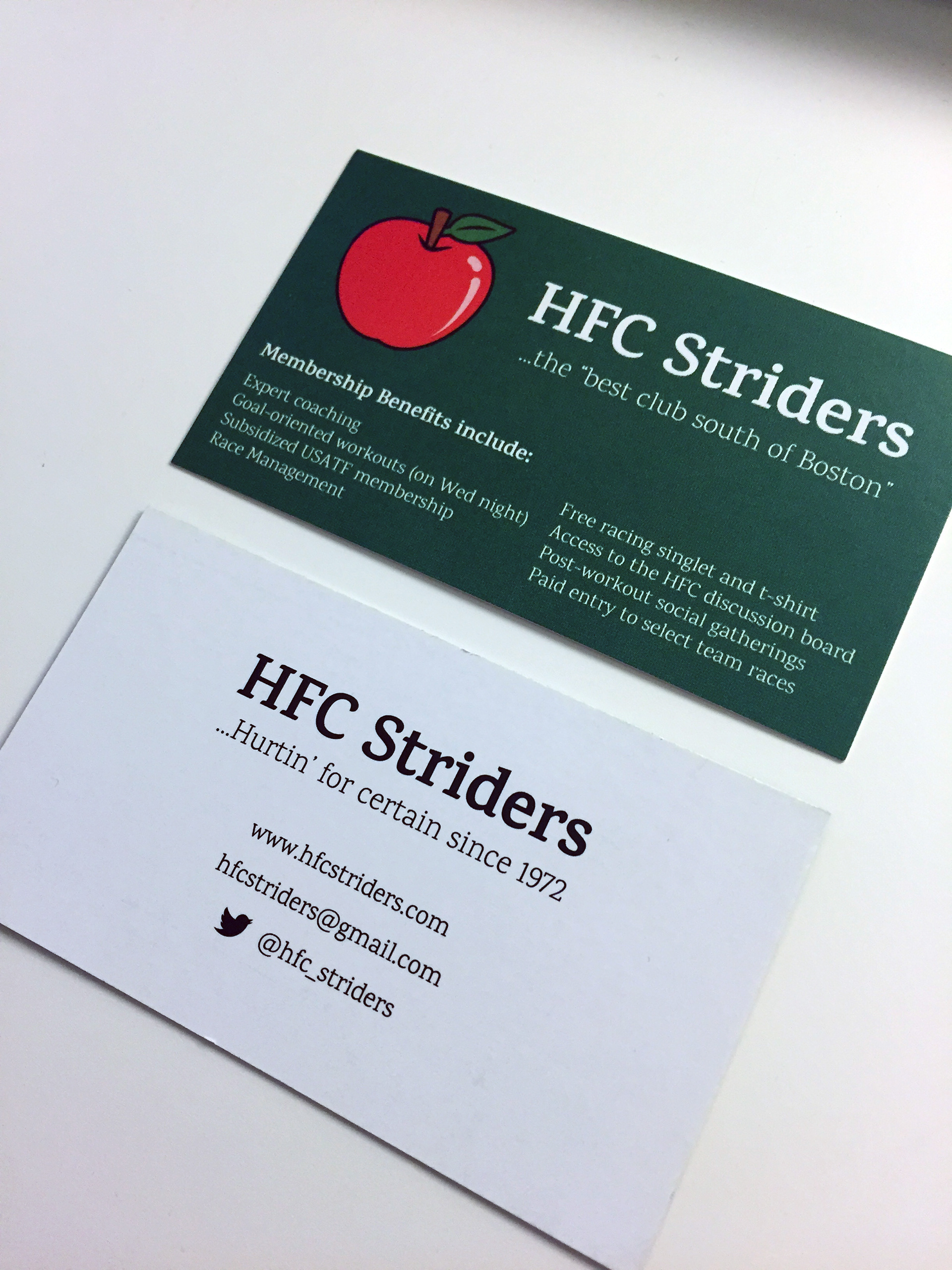 Tiffany Capoccia - HFC Striders Business Card and Icon Revision