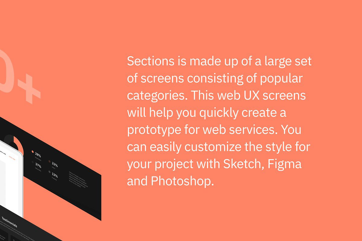 DEOUR - Webdesign Resources & Development - Sections Wireframe Kit