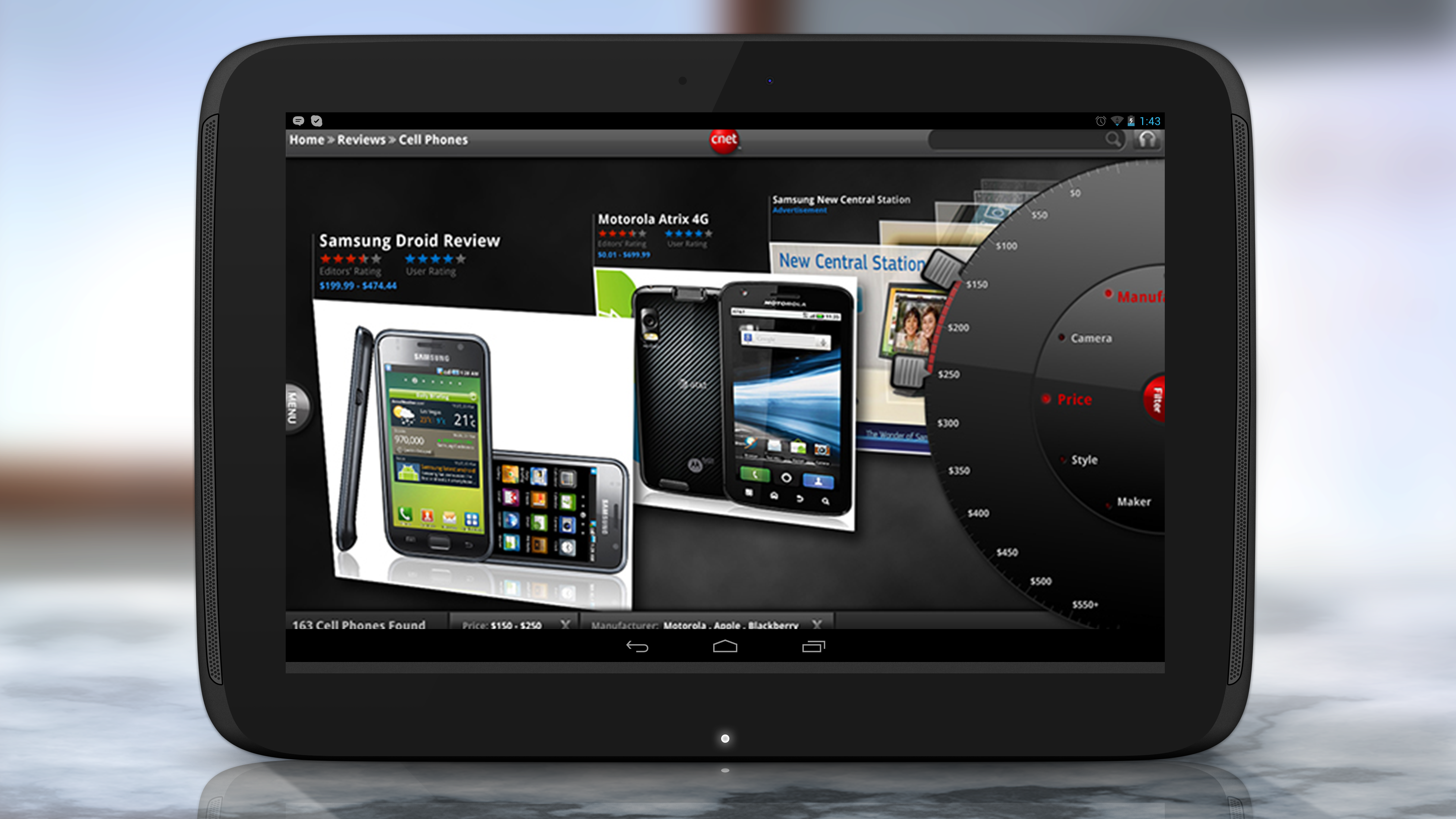 Matthew mclemore award winning uiux designer cnet android tablet app ccuart Image collections