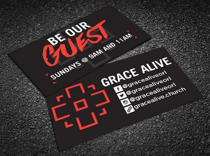 Derek Collier Grace Alive Invite Cards